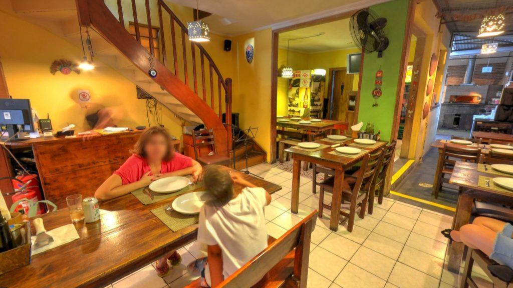 Street View Trusted da pizzaria Vila Milagro na Vila Marina em São Paulo