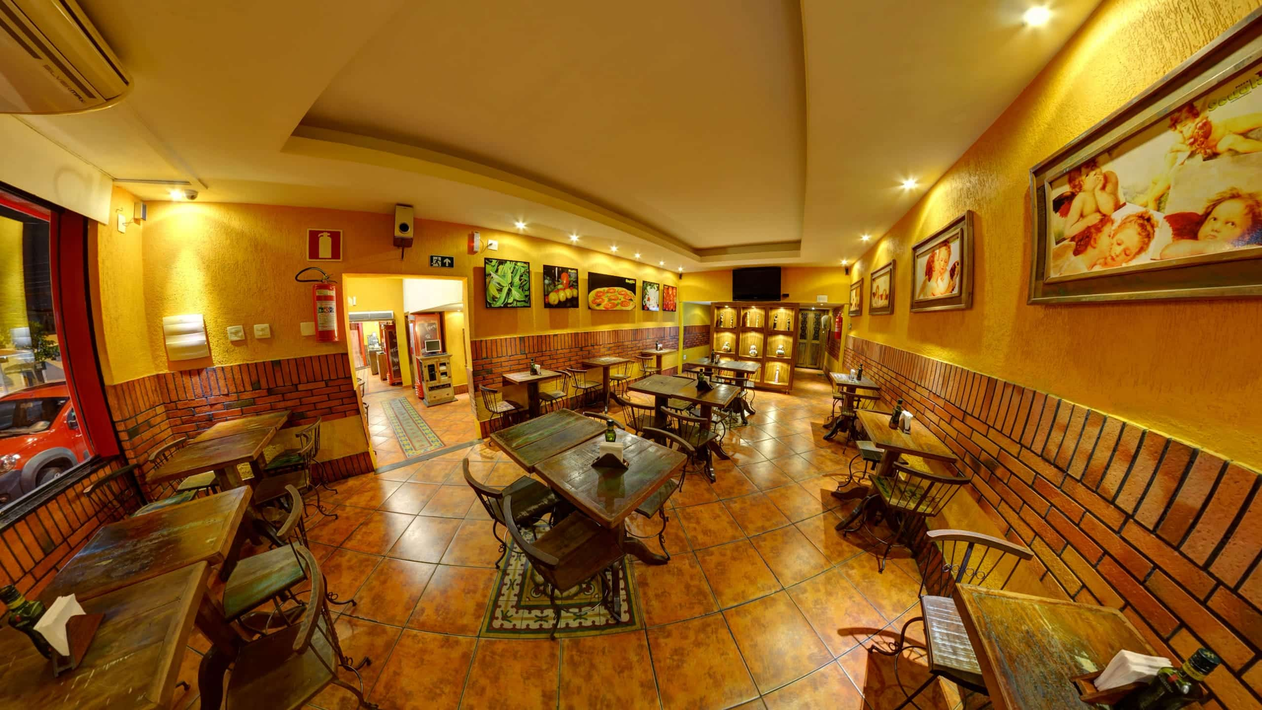 Street View Trusted da pizzaria Pizza Scuola no Sion em Belo Horizonte