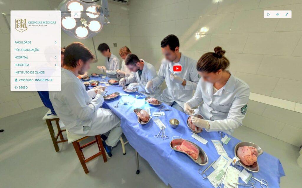 tour virtual da Faculdade de Ciências Médicas de MG
