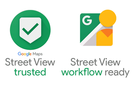Logos do Street View Trusted e Workflow Ready