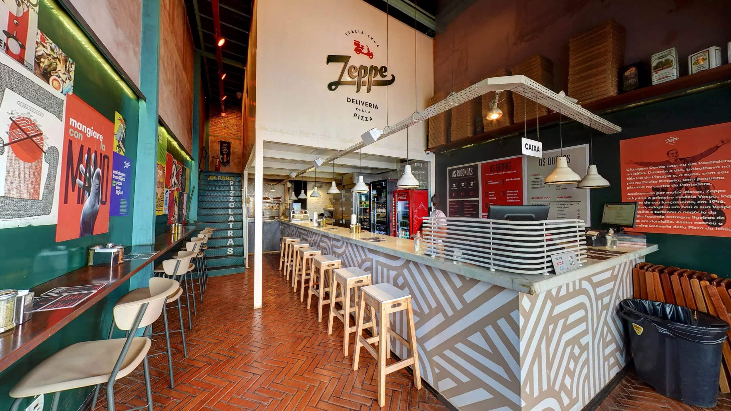 Tour virtual Street View Trusted da Zeppe Pizza, no Vila da Serra.