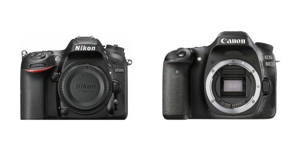 Câmeras DSLR - Nikon 7200 e Canon 80D