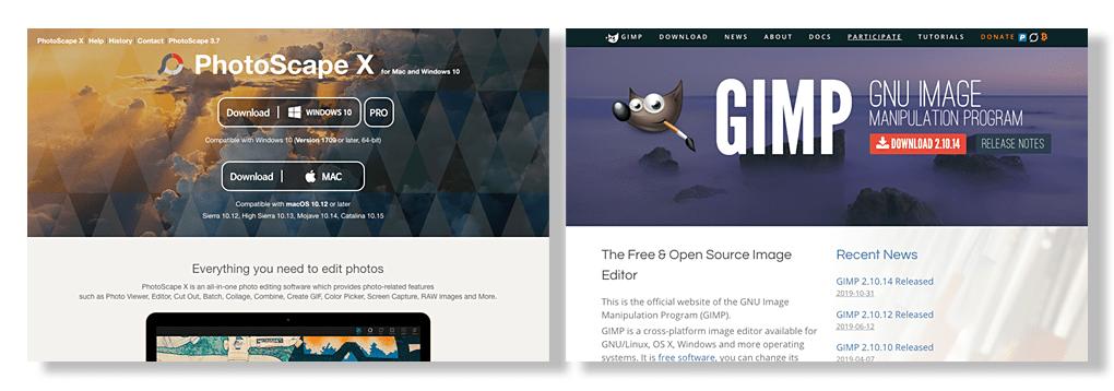 Photoscape e Gimp - Alternativas gratuitas para edição e tratamento de imagens