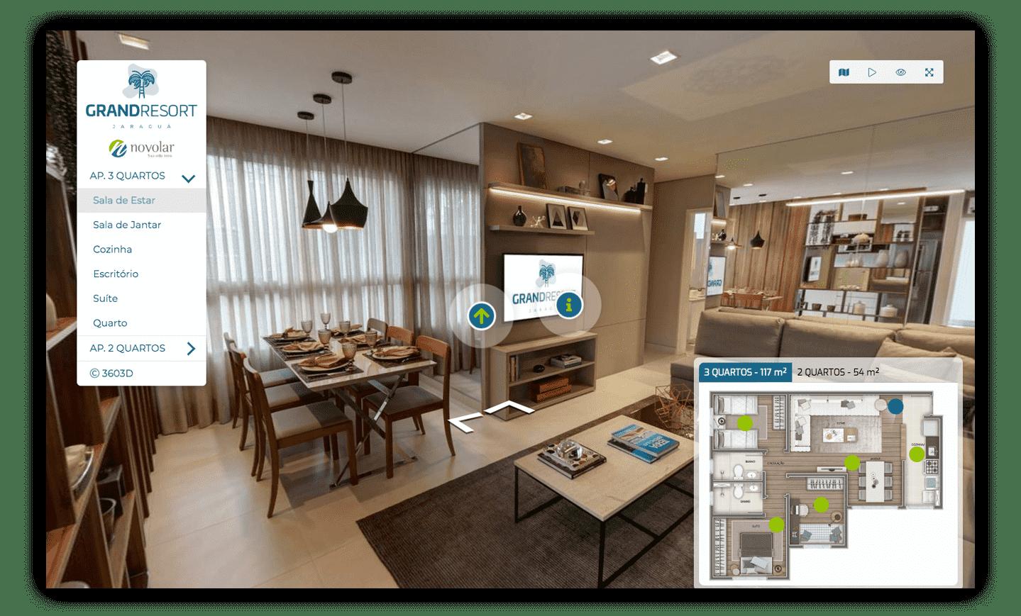 Tour Virtual de Apartamento decorado